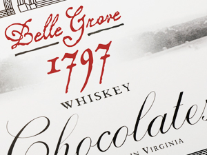 Belle Grove 1797 Whiskey Chocolates