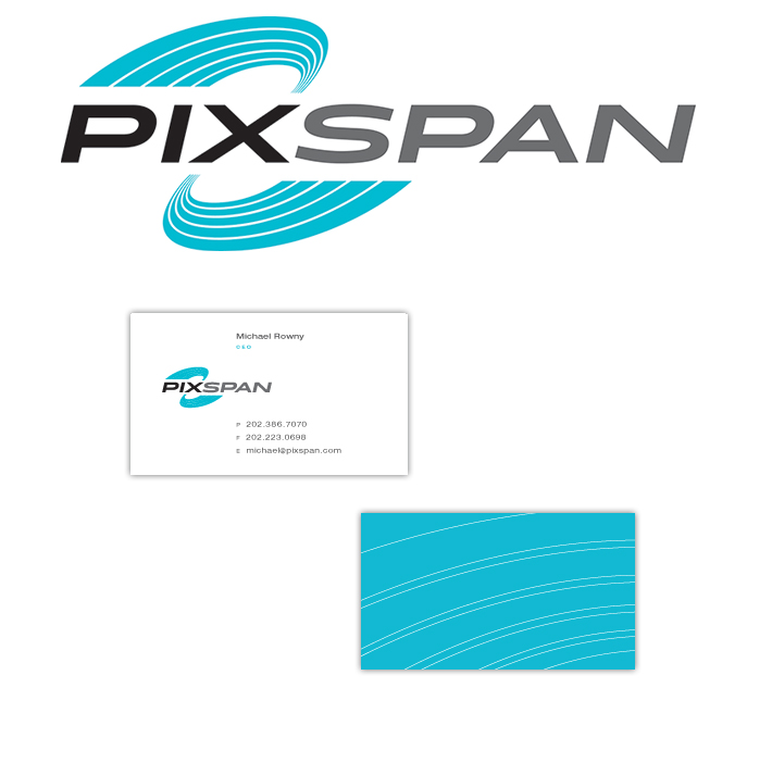 Logo and business cards for a new technology company.